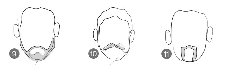Barbas para rosto oval